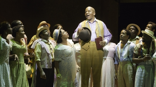 In Porgy and Bess, David Alan Grier plays the drug dealer Sporting Life, a role closely associated with Sammy Davis Jr. and Cab Calloway. (Courtesy of the American Repertory Theater)