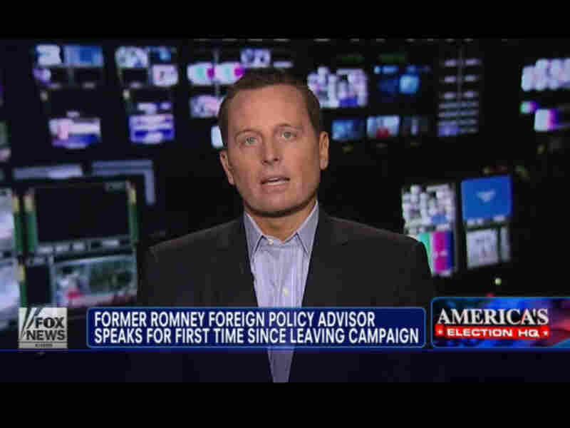 Richard Grenell, Mitt Romney's former adviser, speaks with Fox News on Wednesday.