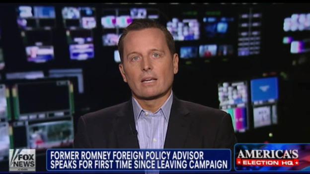 Richard Grenell, Mitt Romney's former adviser, speaks with Fox News on Wednesday. (Fox News)