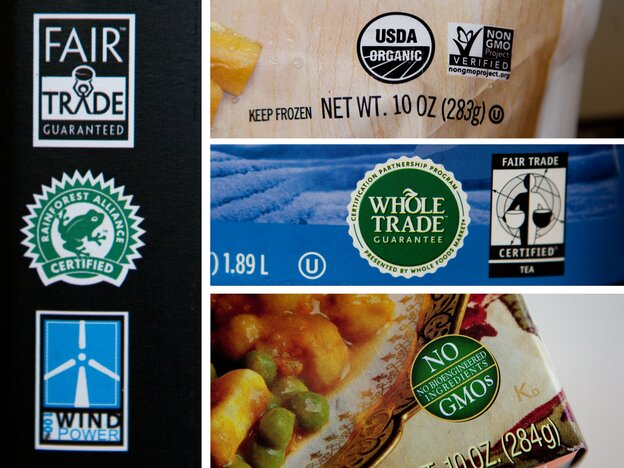 Think these labels we found on foods inside an NPR refrigerator are a lot to digest? Try balancing these considerations with the demands of 50 million diners a day.