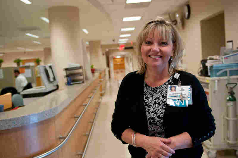 Lisa Spitzer, a registered nurse, is a Planetree program manager and concierge at Fauquier Hospital. She visits patients and offers a friendly ear and a helping hand.