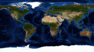 A view of Earth, with shading to enhance features. Only 10 contestants remain in the 2012 National Geographic Bee.