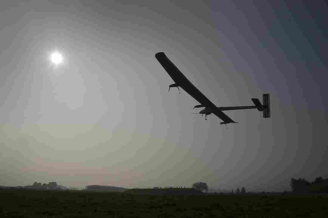 The Swiss sun-powered aircraft Solar Impulse takes off on Thursday in Payerne on its first attempted intercontinental flight from Switzerland to Morocco.