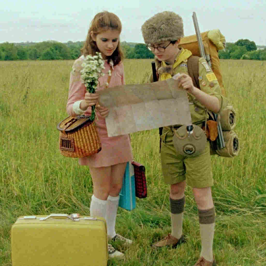 Kara Hayward and Jared Gilman star in Wes Anderson's latest film, Moonrise Kingdom.