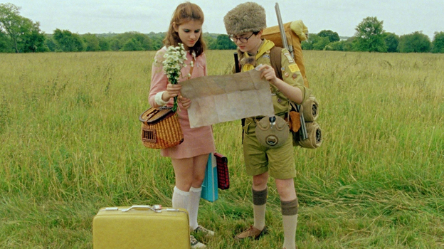 Kara Hayward and Jared Gilman star in Wes Anderson's latest film, Moonrise Kingdom. (Courtesy of Focus Features)