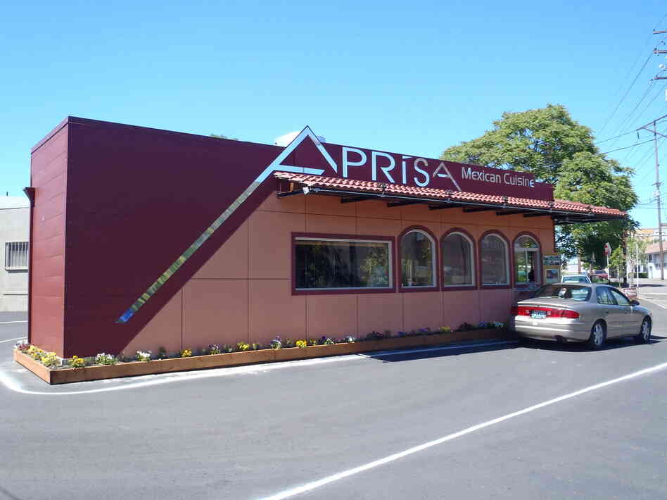 Forget big box stores how about a big box house npr for Aprisa mexican cuisine portland