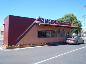 After: The cargo container is now home to Aprisa Mexican Cuisine in Portland, Ore.