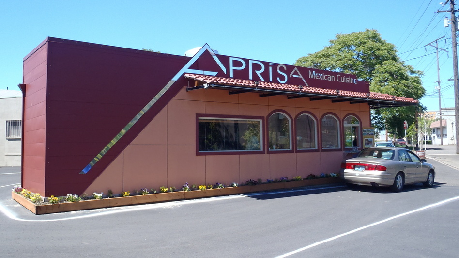 <strong>After:</strong> The cargo container is now home to Aprisa Mexican Cuisine in Portland, Ore.