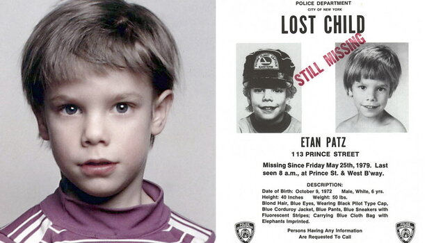 "Etan Patz on the ""lost child"" poster issued after his 1979 disappearance."