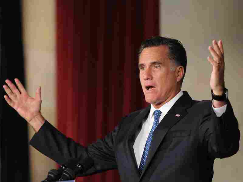 Republican presidential candidate, former Massachusetts Gov. Mitt Romney addresses the Latino Coalition's 2012 Small Business Summit at the U.S. Chamber of Commerce. Much of Romney's campaign rhetoric has been related to jobs. Less has been said about foreign policy.