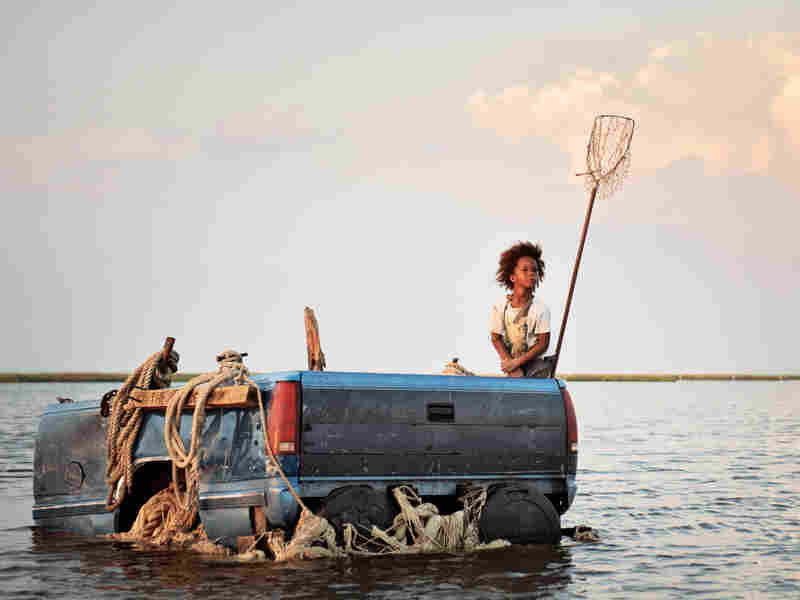 Quvenzhane Wallis as Hushpuppy in Beasts of the Southern Wild.
