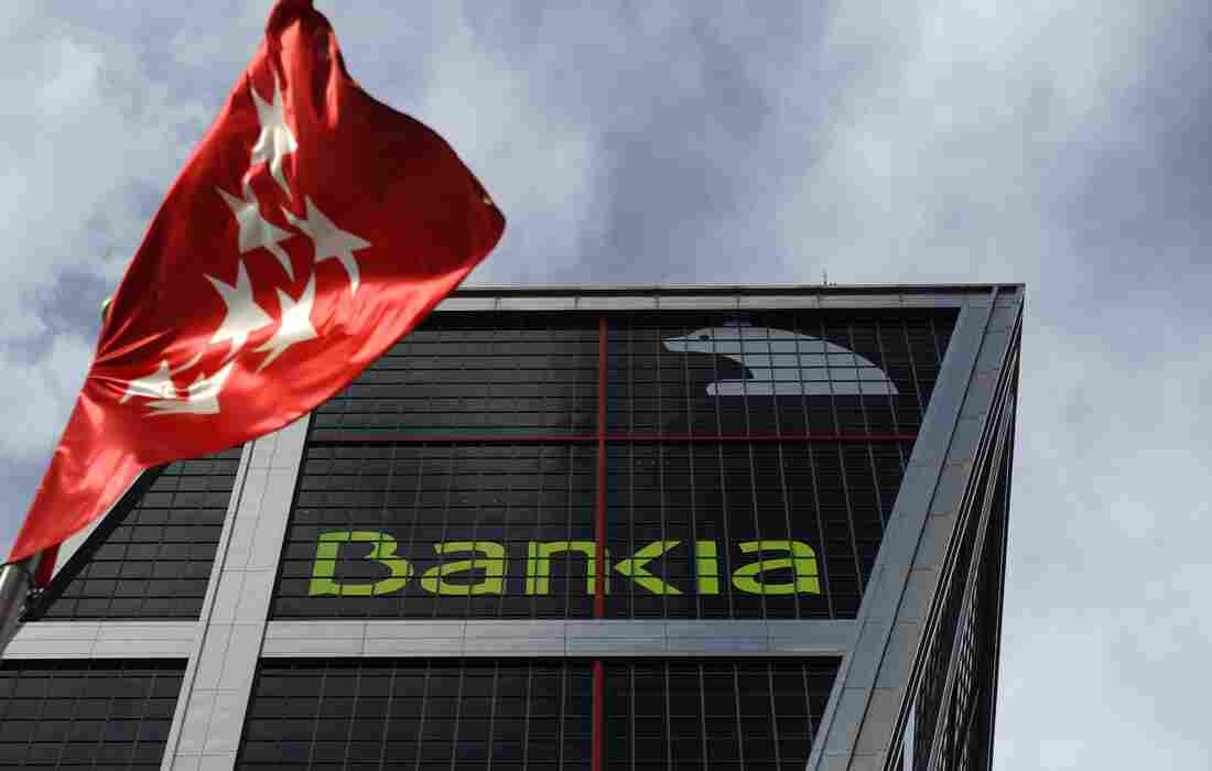 Spanish bank Bankia's headquarters in Madrid. Spain's fourth-biggest bank, Bankia asked the government for a 19 billion euro bailout.
