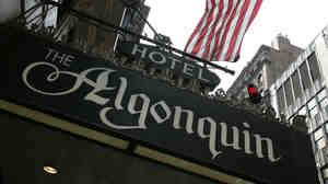 The entrance to the Algonquin Hotel on West 44th Street in New York City.