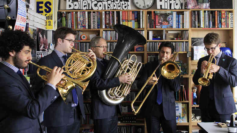 Canadian Brass performs a Tiny Desk Concert at the NPR Music offices.
