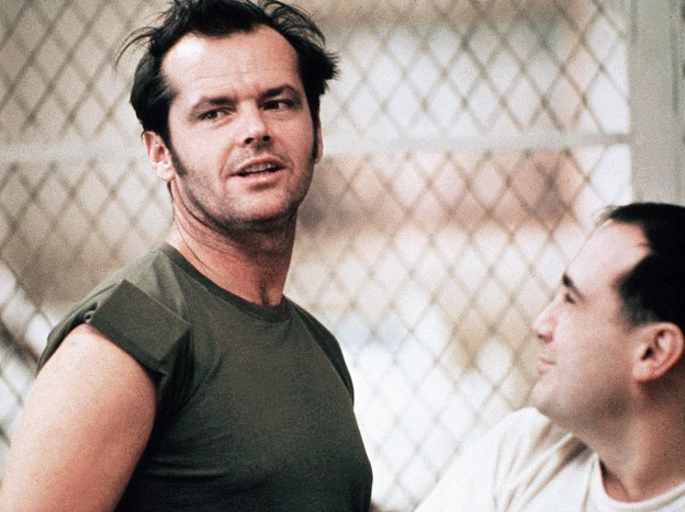 Jack Nicholson and Danny Devito in <em>One Flew Over the Cuckoo's Nest</em> (1975).