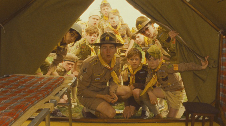 Edward Norton plays a scoutmaster in search of his lost charge in Wes Anderson's latest film, Moonrise Kingdom. (Focus Features)