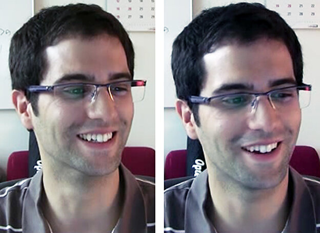 A study participant smiles for different reasons.