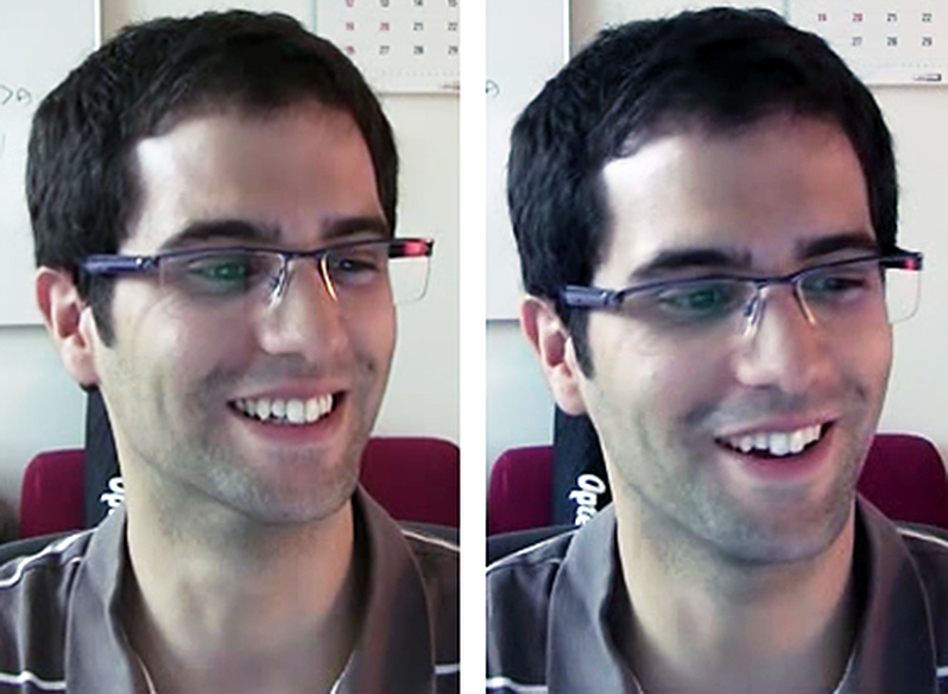 A study participant smiles for different reasons. (MIT)