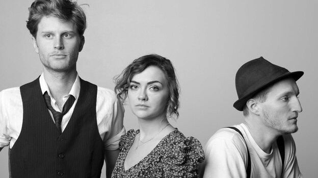 The Denver folk ensemble The Lumineers has released its self-titled debut album. From left: Wes Schultz, Neyla Pekarek and Jeremiah Fraites.