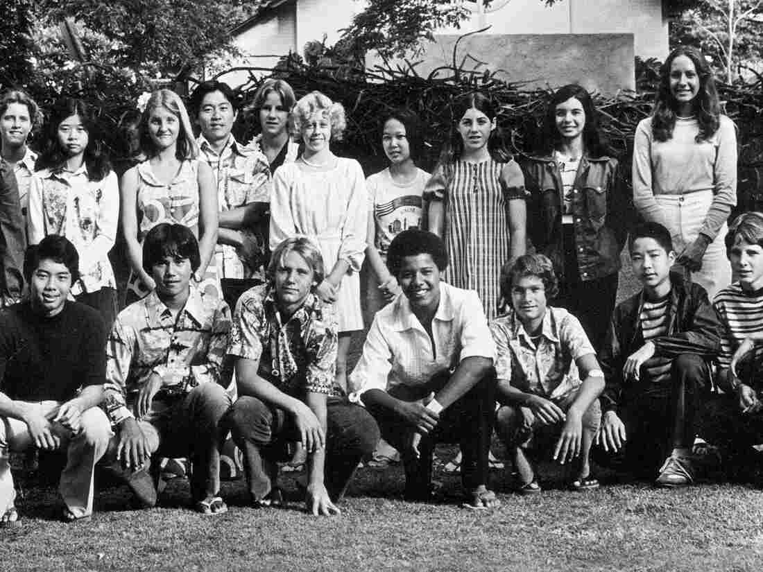 A Punahou School yearbook class photo from 1976 that includes the 9th grader who would grow up to become President Obama, but not before he smoked a lot of pot first.
