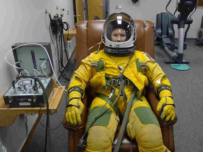 Because U-2s fly at such high altitudes, pilots must wear full spacesuits in case of a leak in the pressurized cockpit.
