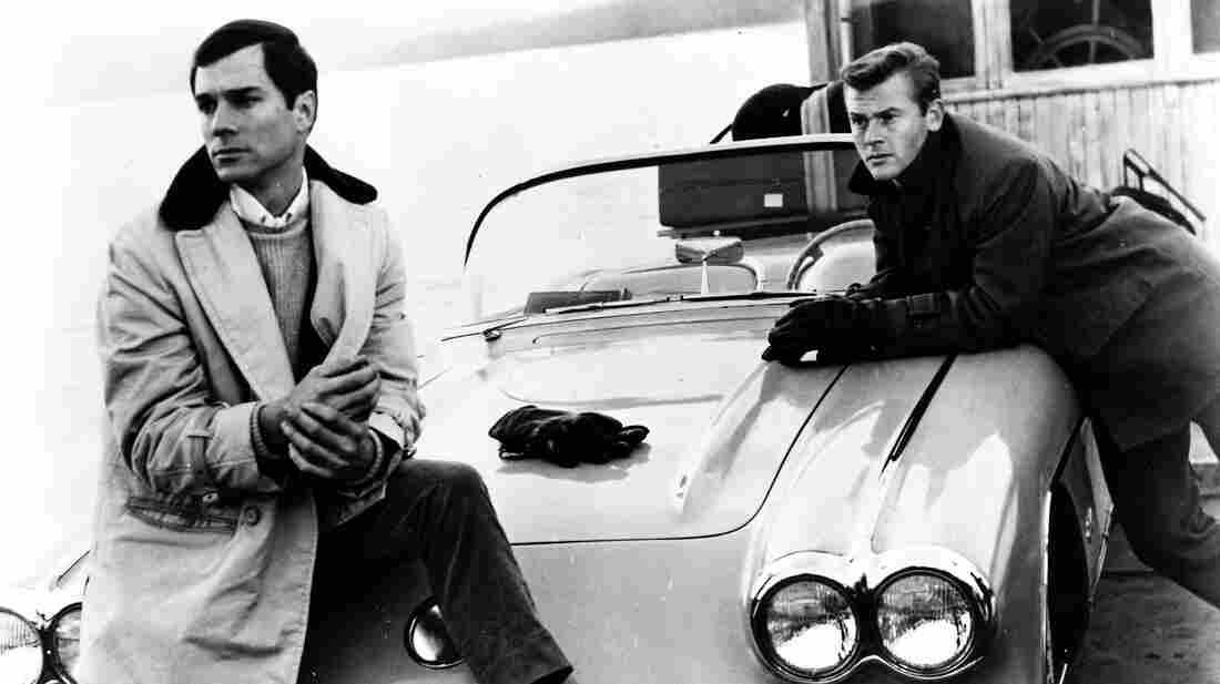 George Maharis (left) played Buz Murdock alongside Martin Milner as Tod Stiles in Route 66, two men driving across America in search of home.