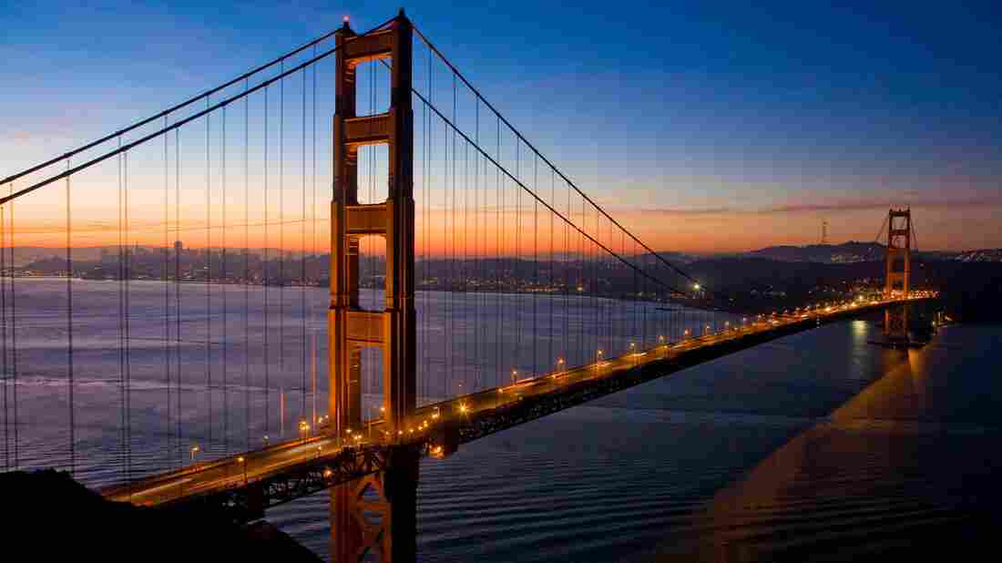 San Francisco's Golden Gate Bridge opened in 1937, connecting San Francisco to  Marin County in the north.