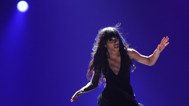 Sweden's Loreen, the winner of the Eurovision 2012, performs at the Grand Final of the song contest in the Azerbaijan's capital Baku, early on Sunday. (AFP/Getty Images)