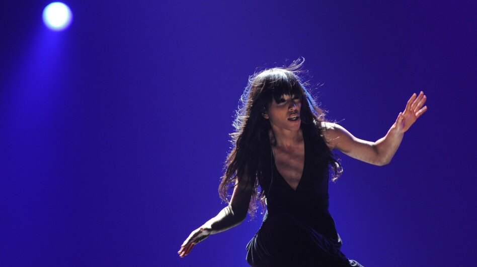 Sweden's Loreen, the winner of the Eurovision 2012, performs at the Grand Final of the song contest in the Azerbaijan's capital Baku, early on Sunday.