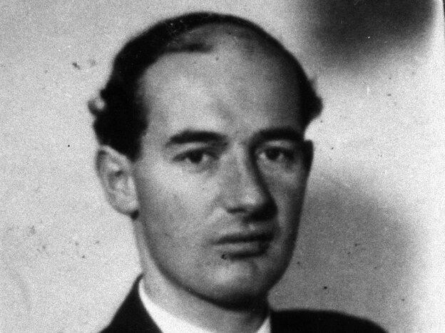 An undated black and white photo showing Swedish diplomat Raoul Wallenberg.