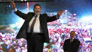 Mohammed Morsi, the Muslim Brotherhood's presidential candidate, was the leading vote getter in Egypt's presidential election last week. But he did not get an outright majority and will face a run-off on June 16-17 against a former prime minister. He's shown here during a campaign rally.