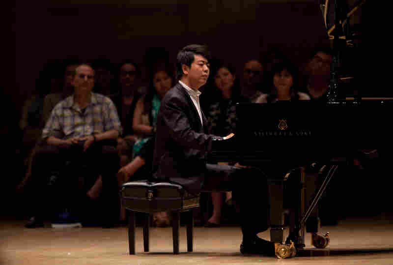 About 120 spectators sat onstage with Lang Lang during this performance.