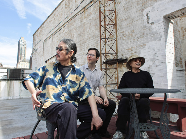 Left to right: Masabumi Kikuchi, Thomas Morgan, Paul Motian.