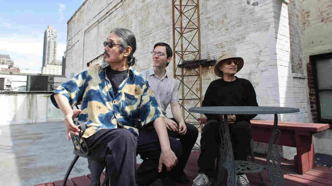 Left to right: Masabumi Kikuchi, Thomas Morgan, Paul Motian.