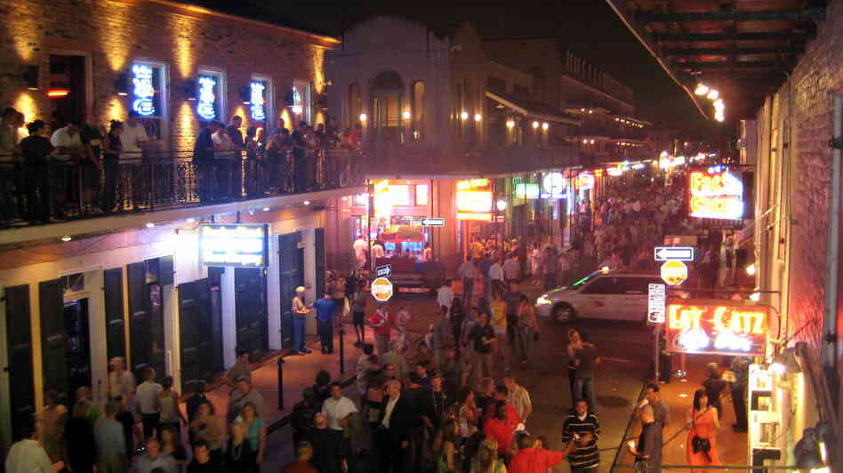 A view of Bourbon Street in New Orleans' French Quarter, an area of the city author Julie Smith says is her favorite.