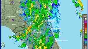 A National Weather Service radar image of Beryl early this morning. It was stretching from North Florida into Georgia.