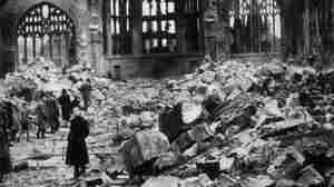 Coventry Cathedral in ruins, November 1940. Britten's War Requiem was written for the church's reconsecration more than 20 years after it was destroyed by Nazi bombers.