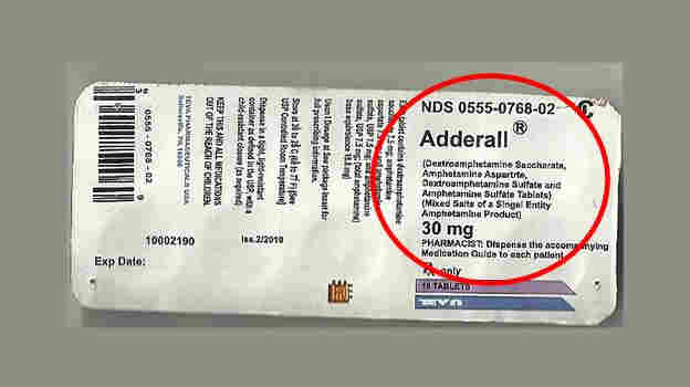"""If the label of ingredients on the Adderall pack says """"singel entity,"""" that's a tip-off for trouble."""
