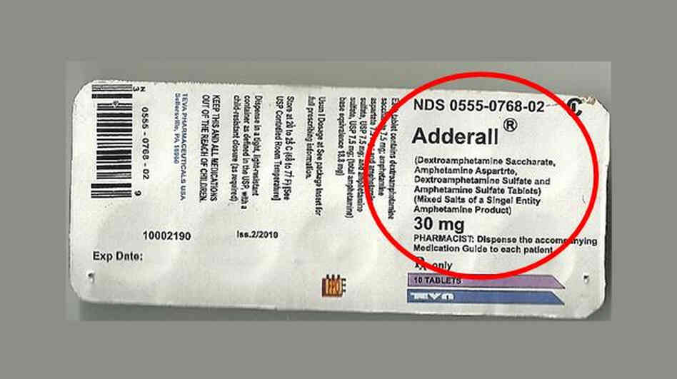 "If the label of ingredients on the Adderall pack says ""singel enti"