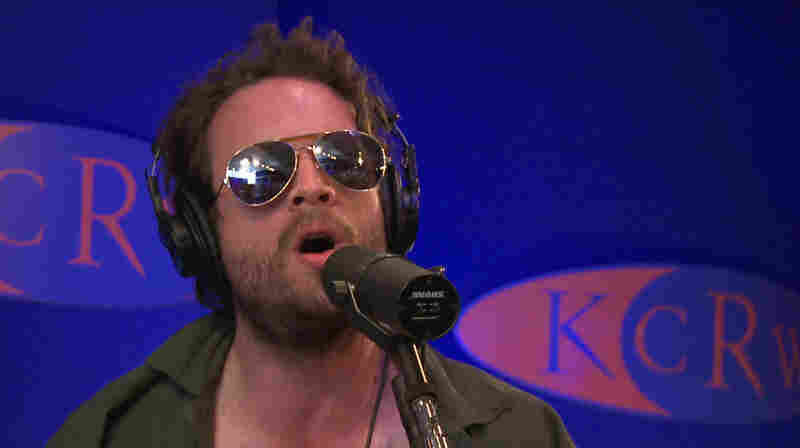"Father John Misty's J. Tillman performs on KCRW's ""Morning Becomes Eclectic."""