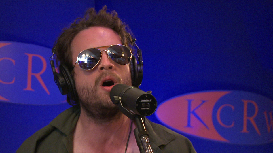 "Father John Misty's J. Tillman performs on KCRW's ""Morning Becomes Eclectic."" (KCRW)"