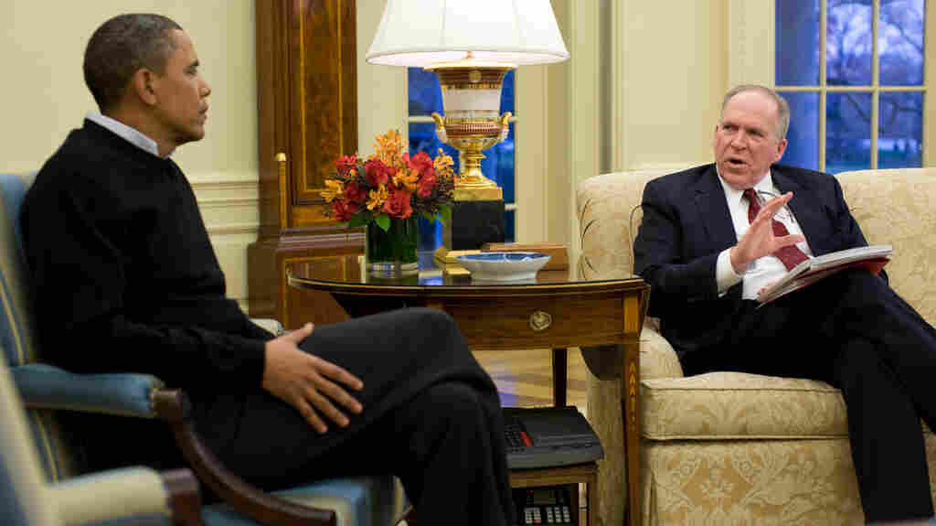 """President Obama and John Brennan, his top counterterrorism adviser, in the Oval Office on Jan. 4, 2010. Brennan is a key voice about who gets put on the """"kill list."""""""