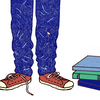 Illustration: teen and books