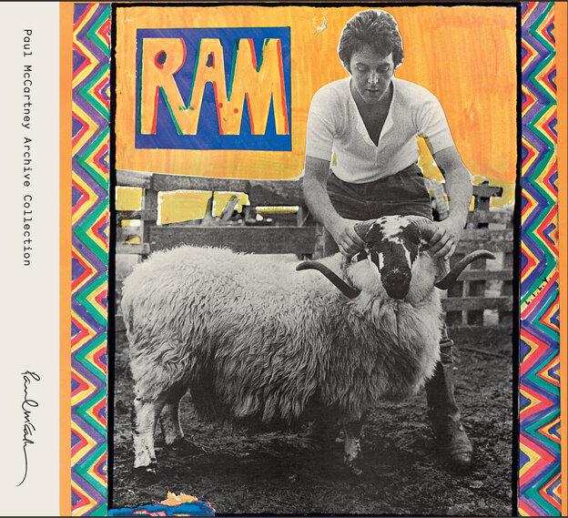 The cover of Paul and Linda McCartney's 1971 album Ram.