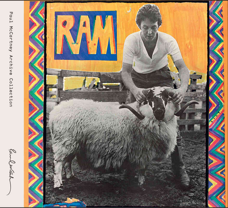 The cover of Paul and Linda McCartney's 1971 album Ram.