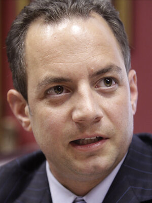 Republican National Committee Chairman Reince Priebus says the national party is putting its full weight behind Wisconsin Gov. Scott Walker in Tuesday's recall election.