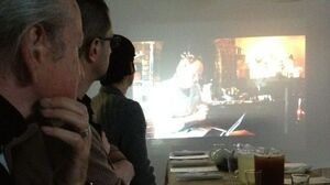 Diners before the start of the Asparagus Food Opera.