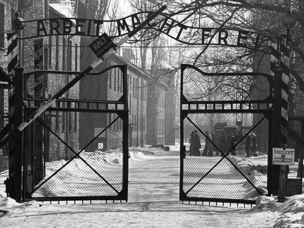 The gates of the Nazi concentrati
