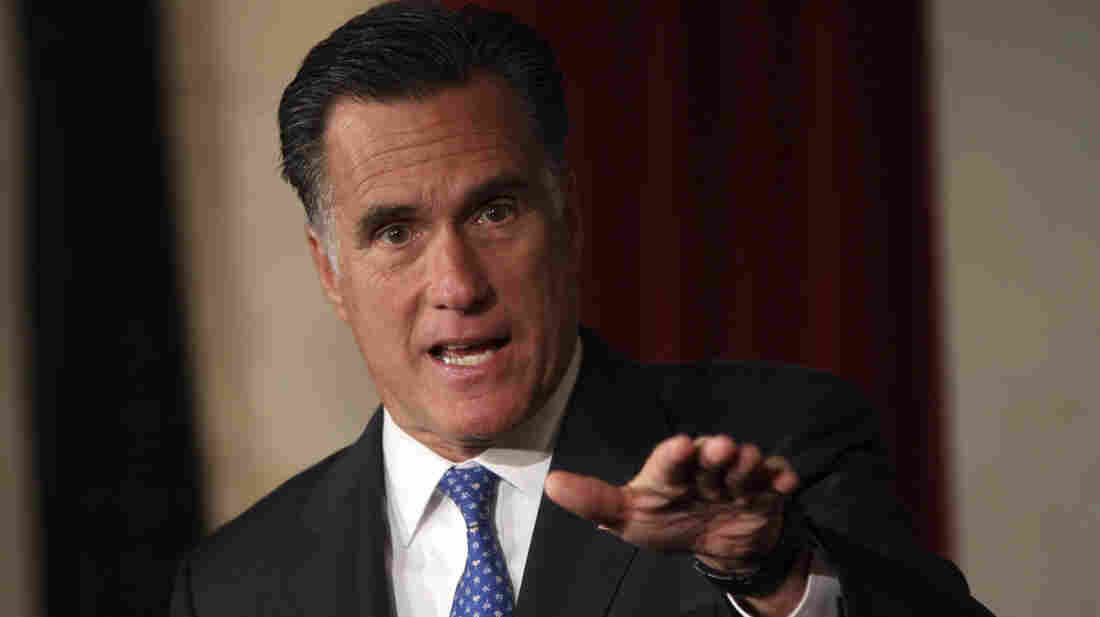 Mitt Romney addresses the Latino Coalition's 2012 Small Business Summit in Washington earlier this month.