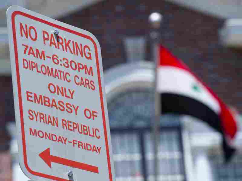 This photo shows the Syrian Embassy May 29, 2012 in Washington, D.C. On Tuesday the U.S. ordered the expulsion of Syria's top diplomat in response to a massacre which killed more than 100 people. Syrian charge d'affaires, Zuheir Jabbour, was given 72 hours to leave the country.